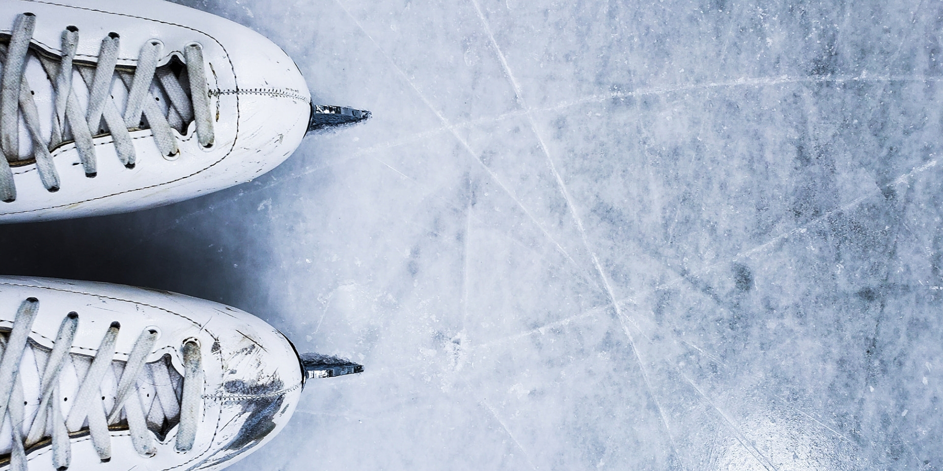 Christie Griffin photograph of skates on ice